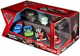 Disney / Pixar CARS 2 Movie Exclusive 1:55 Die Cast Car 7-Pack Racing Rivalry [Mater, McQueen, Fillmore, Sarge, Veloso, Bernoulli & Caroule]
