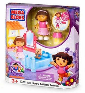 Dora The Explorer Mega Bloks Set #3074 Dora's Buildable Bedroom