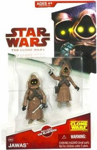 Star Wars 2009 Clone Wars Animated Action Figure CW No. 08 Jawas [2-Pack]