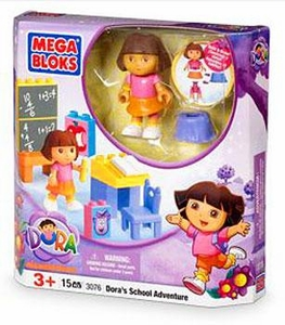 Dora The Explorer Mega Bloks Set #3076 Dora's School Adventure