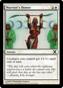 Magic the Gathering Tenth Edition Single Card Common #58 Warrior's Honor