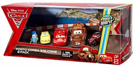 Disney / Pixar CARS 2 Movie Exclusive Die Cast Car 5-Pack Porto Corsa Welcome [Guido, Luigi, Lightning Mcqueen, Mater & Uncle Topolino]