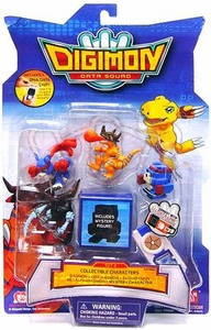 Digimon Data Squad Bandai Mini PVC Figure Set 2 [Gaomon, Dot-Gaomon, Geogreymon, Metalphantomon & Mystery Character]