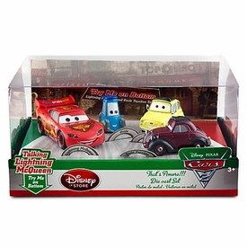 Disney / Pixar CARS 2 Movie Exclusive 1:48 Die Cast Car 4-Pack That's Amore [Lightning McQueen, Guido, Luigi & Uncle Topolino]