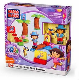 Dora The Explorer Mega Bloks Set #3045 Dora's Pirate Adventure