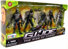 GI Joe Movie The Rise of Cobra Exclusive 3 3/4 Inch Action Figure 5-Pack Duke Hauser Infiltrator [Elite Viper, 2 M.A.R.S. Industries Officers, Duke Hauser & Neo-Viper]