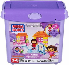 Dora The Explorer Mega Bloks Set #2901 Dora's Art Adventure