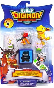 Digimon Data Squad Bandai Mini PVC Figure Set 3 [Lalamon, Dot-Lalamon, Rizegreymon, Mammothmon & Mystery Character]