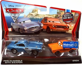 Disney / Pixar CARS 2 Movie Exclusive 1:55 Die Cast Car 2-Pack Finn McMissile with Weapon & Grem [Mater's Secret Mission]