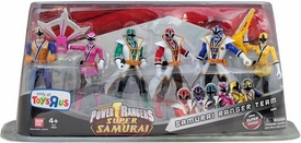 Power Rangers Super Samurai 4 Inch Action Figure 6-Pack Samurai Ranger Team [Light, Pink, Green, Red, Blue & Yellow]