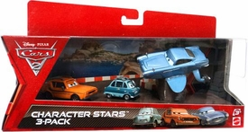 Disney / Pixar CARS 2 Movie Die Cast Car Character Stars 3-Pack Grem, Professor Z & Submarine Finn McMissile