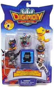 Digimon Data Squad Bandai Mini PVC Figure Set 4 [Falcomon, Dot-Falcomon, Machgaomon, Gotsumon & Mystery Character]