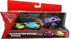 Disney / Pixar CARS 2 Movie Die Cast Car Character Stars 3-Pack A. Trunkov, Acer & Holley Shiftwell with Wings