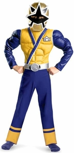 Power Rangers Samurai Child Costume Muscle Chest #38238 Gold Ranger [Boys Medium 7-8]