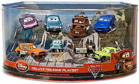 Disney / Pixar CARS 2 Movie Exclusive 1:48 PVC Plastic Car 7-Pack Deluxe Figurine Playset [Includes Holley Shiftwell, Professor Z, Mater, Acer & More!]