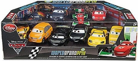 Disney / Pixar CARS 2 Movie Exclusive 1:48 Die Cast Car 10 Piece Set #2 World Grand Prix Racer & Crew Chiefs [Schnell, Bonn, Bernoulli, Motorosi, Gorvette, Lassetire, Camino, Cartalina, Hamilton & Boxmann]