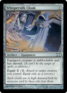 Magic the Gathering Tenth Edition Single Card Uncommon #345 Whispersilk Cloak