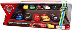 Disney / Pixar CARS 2 Movie Exclusive 1:55 Die Cast Car 10-Pack World Grand Prix Racers [McQueen, Gorvette, Bernoulli, Hamilton, Gearsley, Camino, Todoroki, Veloso, Schnell & CaRoule]