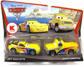 Disney / Pixar CARS 2 Movie Exclusive 1:55 Die Cast Car 2-Pack Jeff Gorvette & John Lassetire