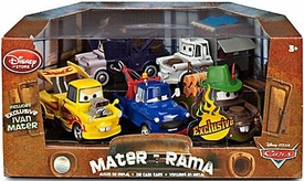 Disney / Pixar CARS 2 Movie Exclusive 1:48 Die Cast Car 5-Pack Mater-Rama #1 [Taco Truck, Materhosen, Dracula, Ivan & Yellow Dragstar]