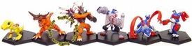 Digimon MegaHouse Set of 6 Japanese PVC Fighting Figures