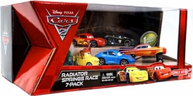 Disney / Pixar CARS Movie Exclusive 1:55 Die Cast Car 7-Pack Radiator Springs Race [Hydraulic Ramone, Ferrari Guido & Luigi, Sally, Gorvette, Hamilton & Racing Wheels McQueen]