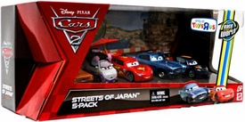 Disney / Pixar CARS Movie Exclusive 1:55 Die Cast Car 5-Pack Streets of Japan [Tamiko, McMissile, McQueen, Grem & Schnell]