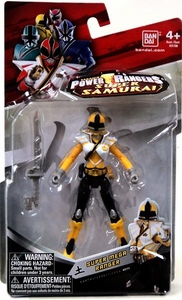 Power Rangers Super Samurai 4 Inch Action Figure Super Mega Ranger Earth [Yellow]