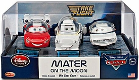 Disney / Pixar CARS TOON Exclusive 1:48 Die Cast Car 3-Pack Mater on the Moon [Moon Mater, Autonaut McQueen & Impala XIII]
