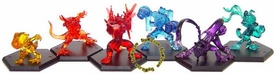 Digimon MegaHouse Set of 6 Japanese PVC Fighting Figures [Powered Up Version]