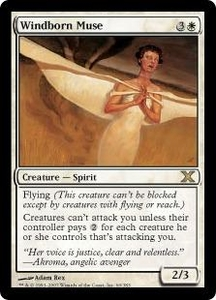 Magic the Gathering Tenth Edition Single Card Rare #60 Windborn Muse