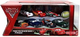 Disney / Pixar CARS Movie Exclusive 1:55 Die Cast Car 7-Pack Tokyo Race Day [Hobbscap, Mustangburger, Cartrip, Bernoulli, McQueen, Tudoroki & Schnell]