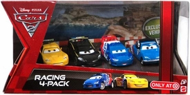 Disney / Pixar CARS 2 Movie Exclusive Die Cast Car Racing 4-Pack Bruno Motoreau, Raoul CaRoule, Jeff Gorvette & Lewis Hamilton