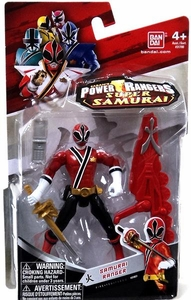 Power Rangers Super Samurai 4 Inch Action Figure Samurai Ranger Fire
