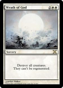 Magic the Gathering Tenth Edition Single Card Rare #61 Wrath of God