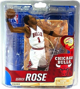 McFarlane Toys NBA Sports Picks Series 20 Action Figure Derrick Rose (Chicago Bulls) White Uniform