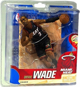 McFarlane Toys NBA Sports Picks Series 20 Action Figure Dwyane Wade (Miami Heat) Black Uniform
