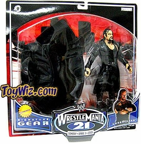 WWE Jakks Pacific Wrestlemania XXI 21 Exclusive Signature Gear Undertaker Action Figure with Black Hat