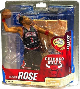 McFarlane Toys NBA Sports Picks Series 20 Action Figure Derrick Rose (Chicago Bulls) Black Uniform Bronze Collector Level Chase Only 2,000 Made!