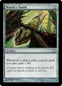 Magic the Gathering Tenth Edition Single Card Uncommon #346 Wurm's Tooth