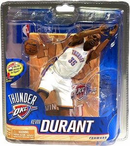McFarlane Toys NBA Sports Picks Series 20 Action Figure Kevin Durant (Oklahoma City Thunder) White Uniform Silver Collector Level Chase Only 1,000 Made!