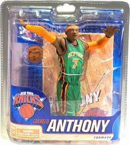 McFarlane Toys NBA Sports Picks Collectors Club Exclusive Action Figure Carmelo Anthony (New York Knicks) St. Patrick's Day Green Uniform