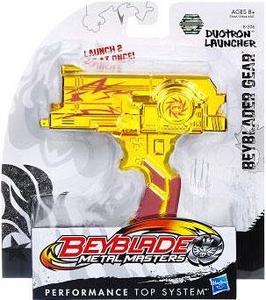 Beyblades Metal Masters Deluxe Gear #B-206 Duotron Launcher [Gold]