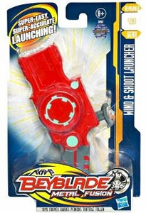 Beyblades Metal Fusion Battle Gear #B201 Wind & Shoot Launcher [Red]