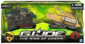 GI Joe Movie The Rise of Cobra Exclusive Vehicle 2-Pack Snake Trax ATV & Armored Panther [Includes Scrap-Iron & Sgt. Thunderblast] Damaged Package, Mint Contents!