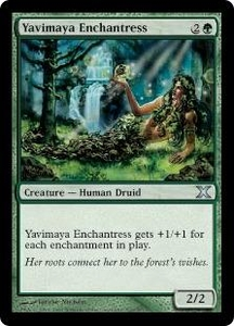 Magic the Gathering Tenth Edition Single Card Uncommon #310 Yavimaya Enchantress