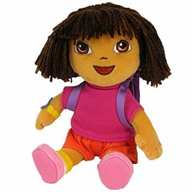 Ty Dora the Explorer Beanie Baby Dora the Explorer