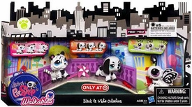 Littlest Pet Shop Walkables Exclusive Playset Black & White Collection