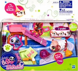 Littlest Pet Shop Walkables Playset #2256 Guinea Pig & Ball