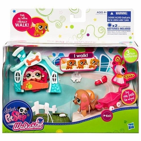 Littlest Pet Shop Walkables Playset #2163 Dog & Wagon